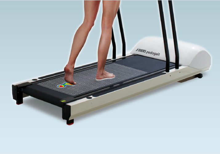 DIERS pedogait: Treadmill with integrated Foot Pressure Plate