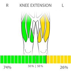 DIERS myoline: Knee Extension (Left-Right)